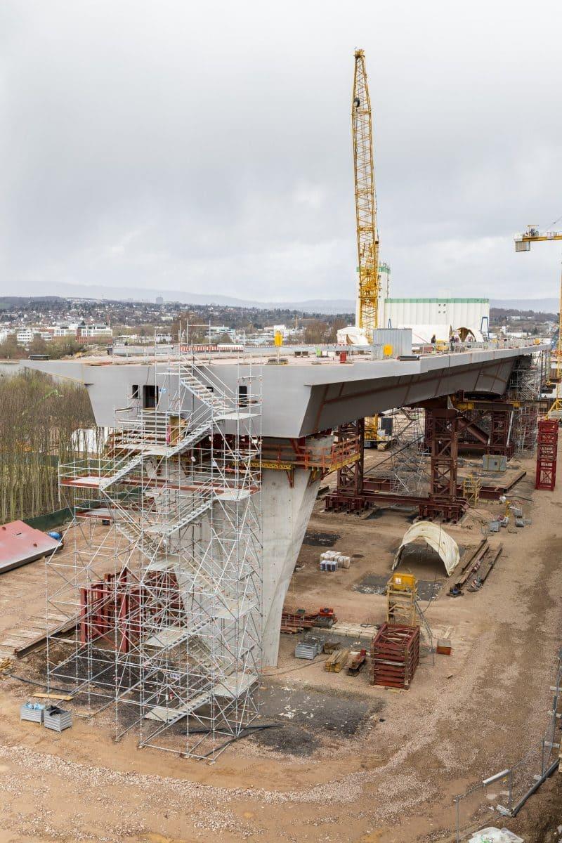 Beide Anschlussbauwerke (hier Mainz-Mombach) wurden mit ZTV-Ingenieurbeton von Holcim gebaut.