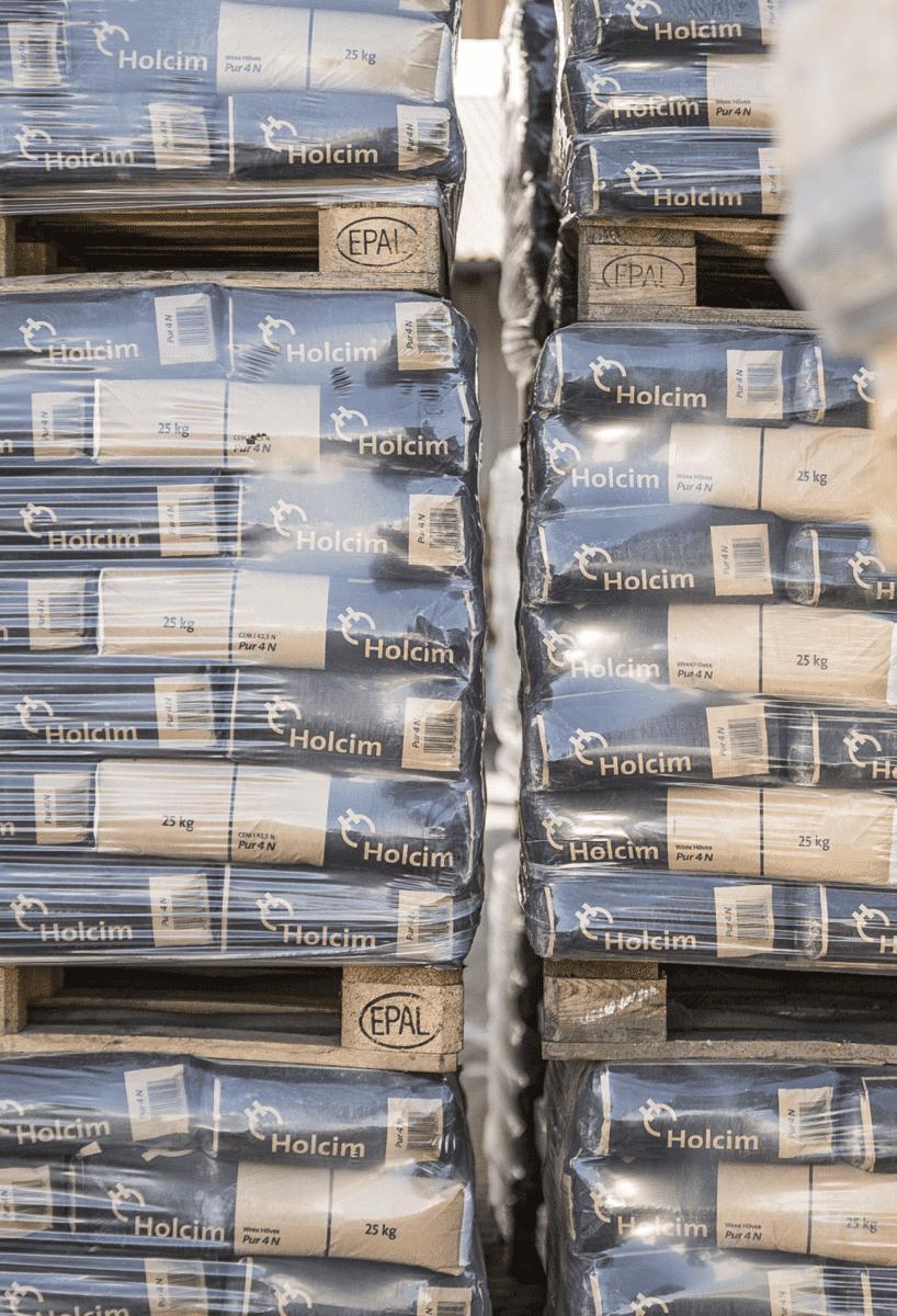 Der Holcim-Pur 4 N Zement wird am häufigsten nachgefragt. Insgesamt bietet Holcim zwölf verschiedene Sorten Sackzement.