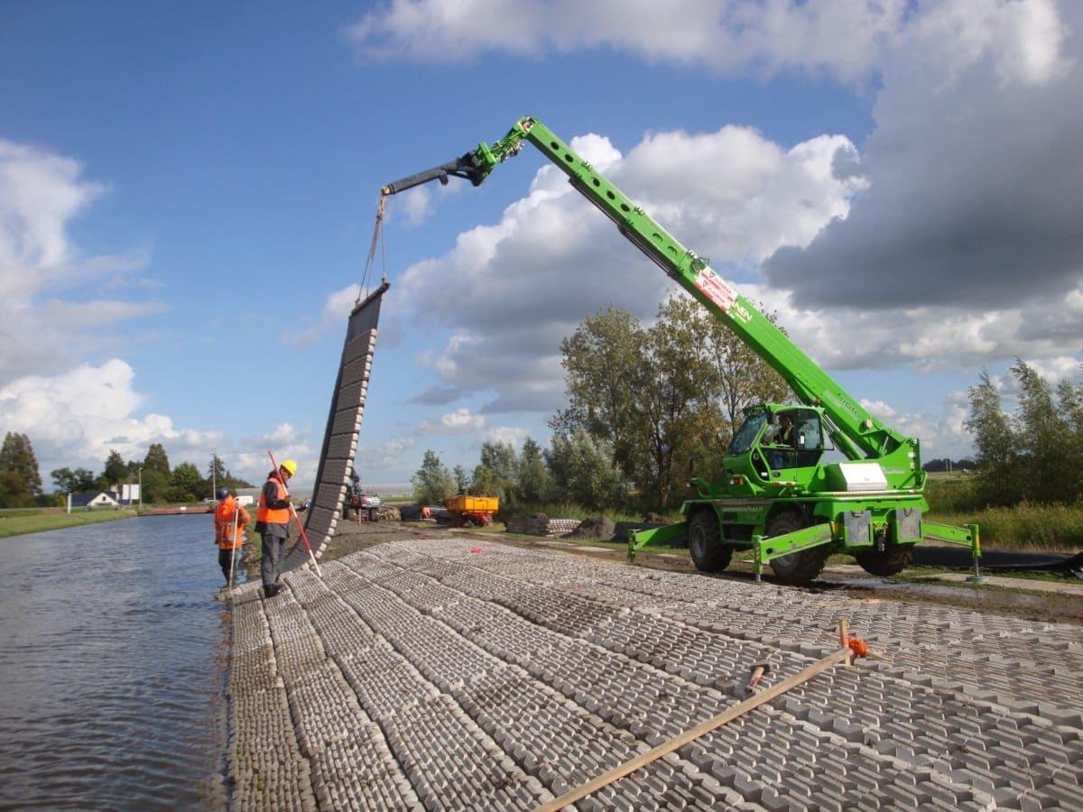 Entwickelt für den Schutz von Ufern, Böschungen und Gewässerböden und zum Schutz von Gas- und Stromleitungen am Meeresboden.
