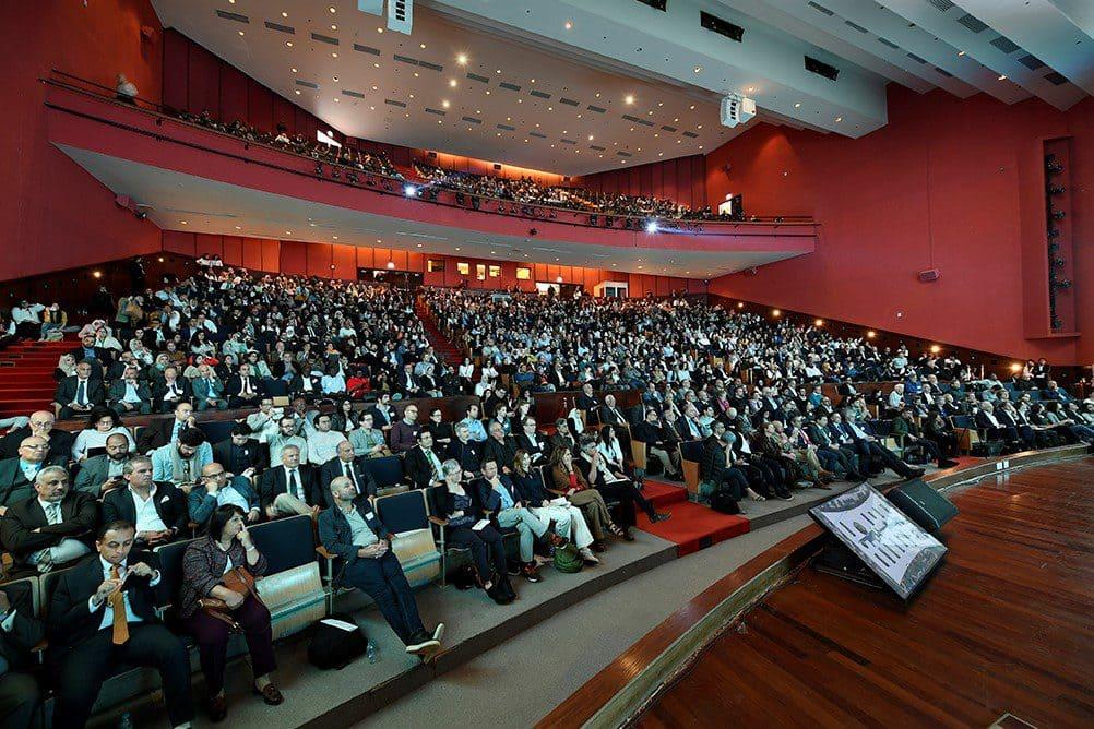 Die American University in Kairo war mit über 1.200 Zuhörern gut gefüllt.
