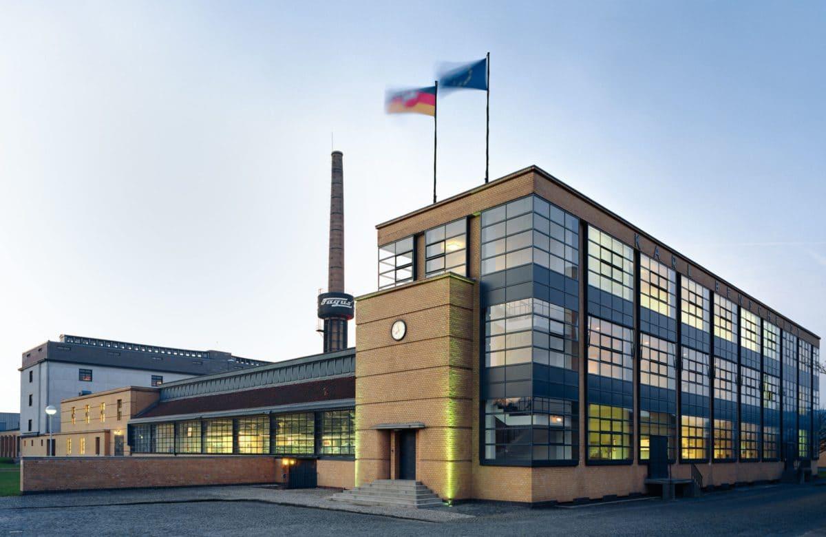 Die Schuhleistenfabrik im niedersächsischen Alfeld wurde 1911 fertiggestellt und gehört seit 2011 zum Weltkulturerbe.